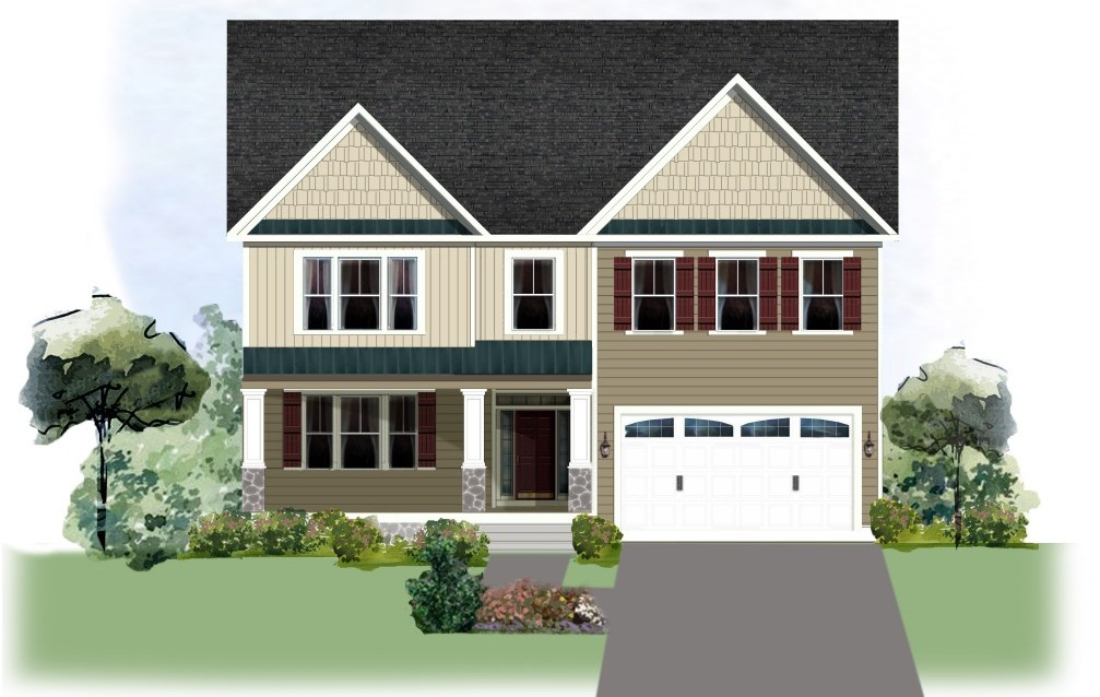 The ashby lakeside homes screened porch 3 car garage for Ashby house plan